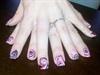 Hot Pink Tim Burton nails