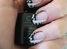 nail art: Abstract black and white