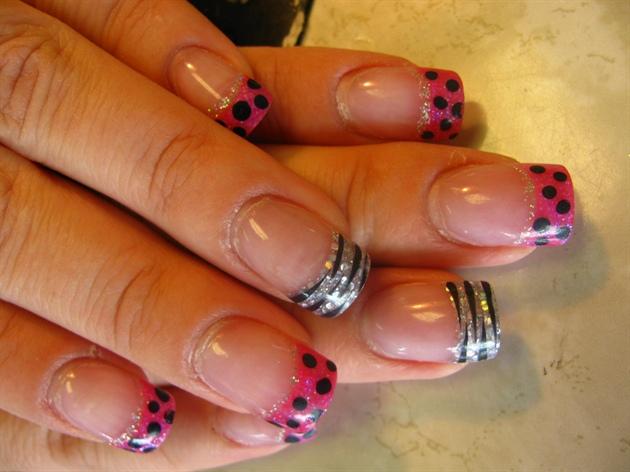 Dots n Zebra Glitter sculptured