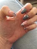 50 Shades Of Grey Inspired Nails