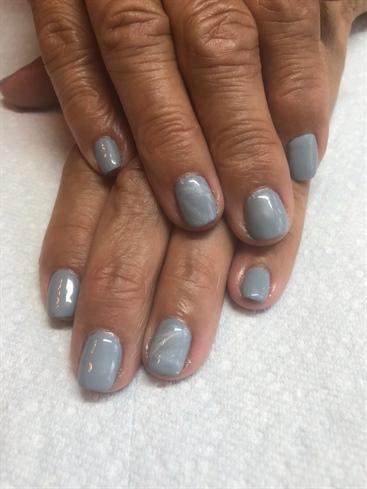 Gray Marble Natural Nail