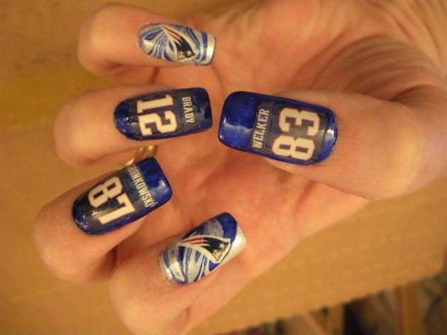 NE Patriots Nails