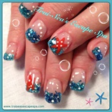 Ocean theme with starfish & bubbles