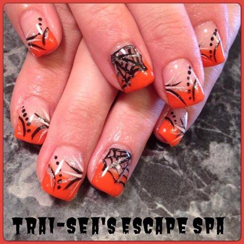Orange Black & spider webs