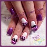 Purple & White Aztec