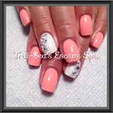Peach with Swarovski Crystals