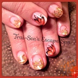 Fall Flowers & Gold Glitter