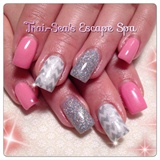 Pink & Silver Chevrons