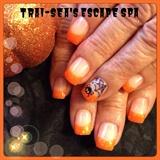 Orange With Spider Web