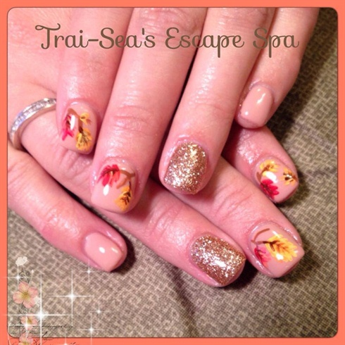 Hand painted Fall Leaves