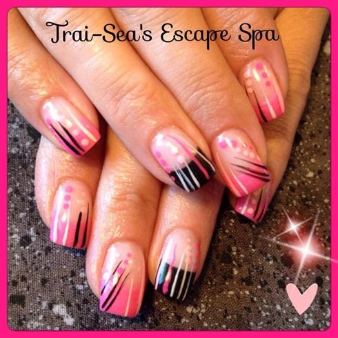 Pink & Black With Design