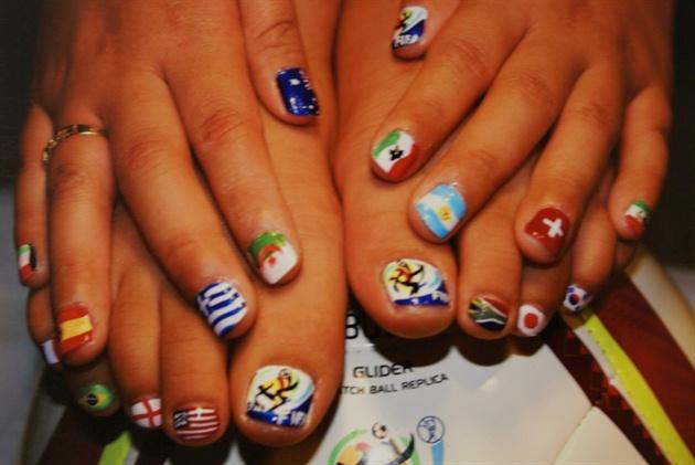 Soccer Nail Art Gallery