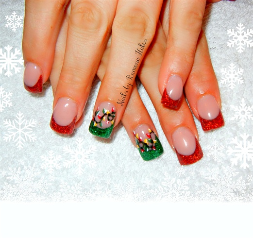 Christmas Lights Nails Pinterest: Nail Art Gallery