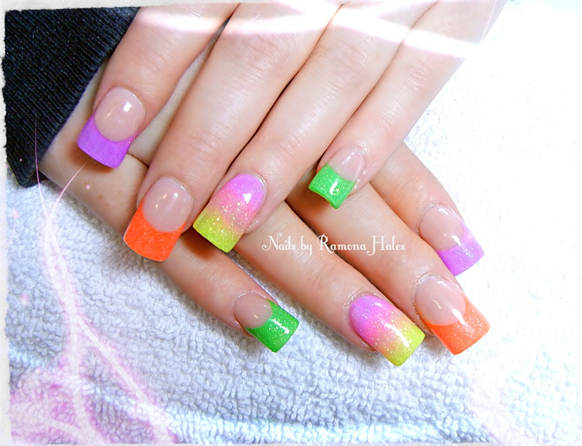 Neon French - Nail Art Gallery