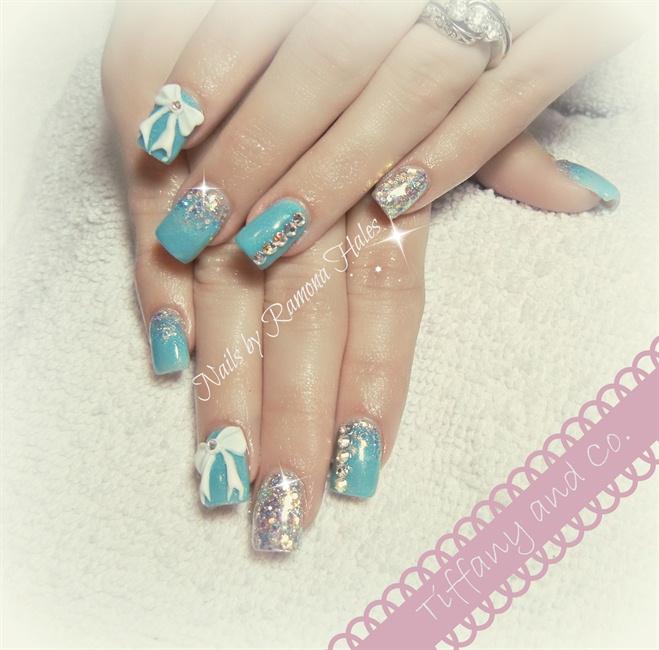 Tiffany Blue Nail Art: The Gallery For --> Tiffany Blue Acrylic Nails