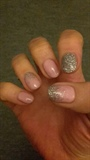 Ombré Glitter On Pink