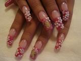 hot pink  n flowers....