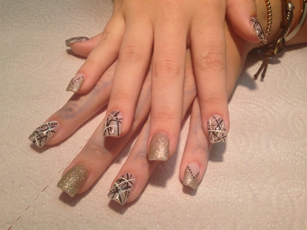 Stripes & Glitter Mash Up