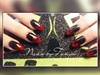 3d acrylic blood nail art