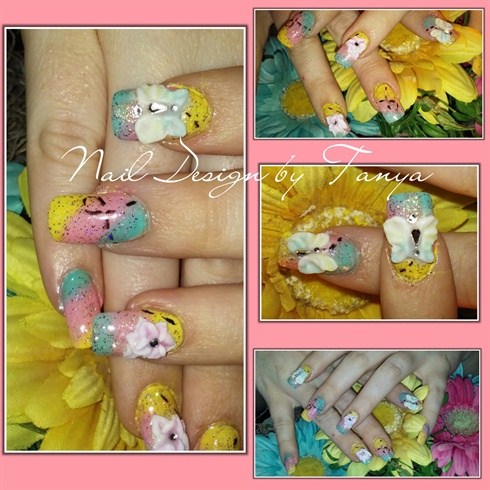 3d acrylic spring nails