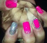 Diamond pink glitter