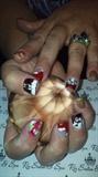 Rudolf christmas nails
