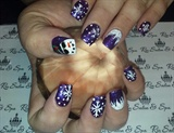3d Snowman sunglasses snowflake christmas nails