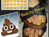 Emoji toes nail art