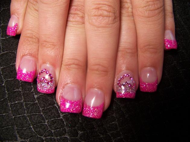 Chelane's pink rhinestone hearts