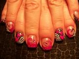 Trish's pink black Valentines
