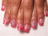 Jennifer's pink rhinestone hearts