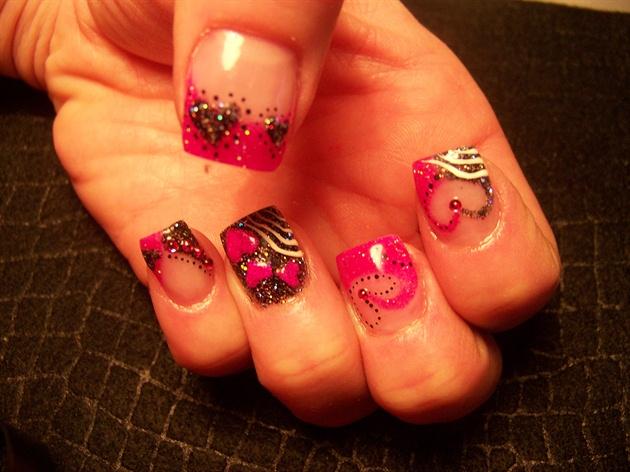 Trish's pink black Valentines 2
