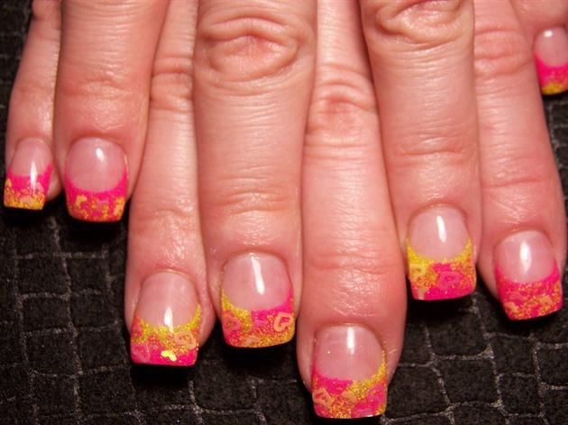 Trish's pink yellow hearts