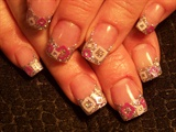 Trish's silver pink & white squares