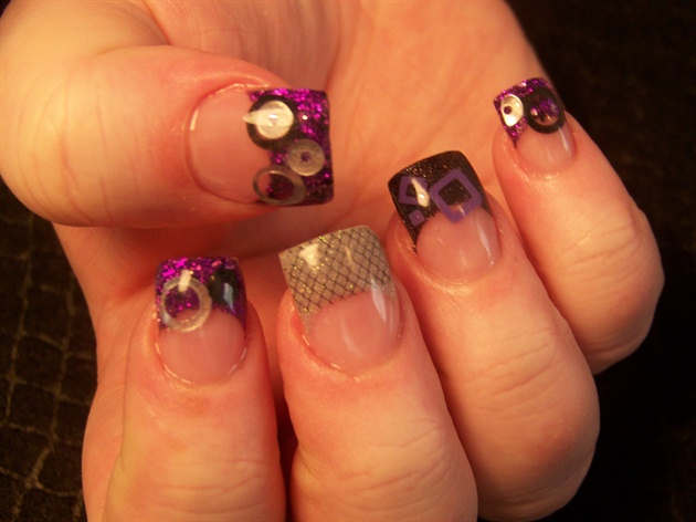 Emily's purple with shapes and lace