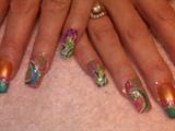 Fiesta nails!!