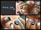 Black and white designer nails