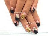 Black and Gold Gel Design