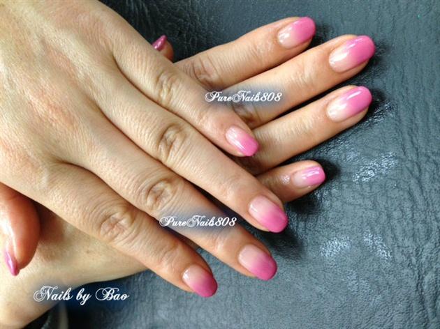 Pink Mani by Trump Gel Design
