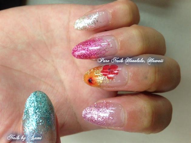 Hibiscus Nails by Trump Gel