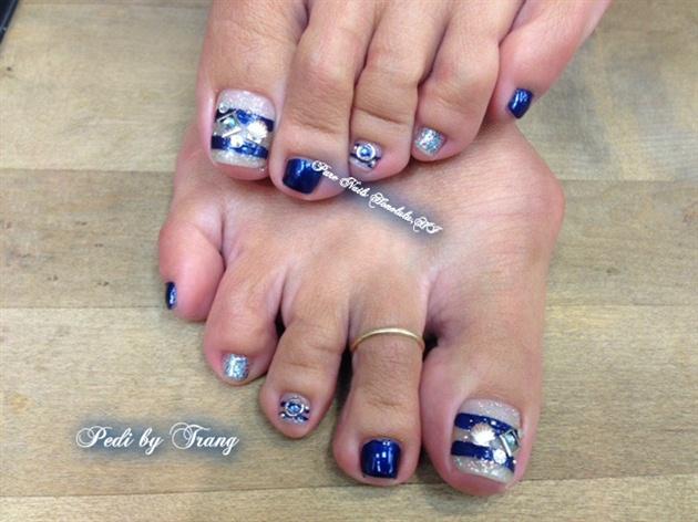 Summer Blue Pedicure