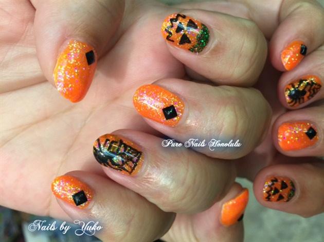 Halloween Nails by TrumpGel 2