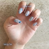 Blue Marble Nails