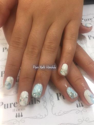 Blue Spring Nails