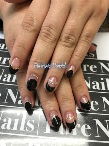 Balck French Nails