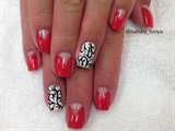 chevron french nails