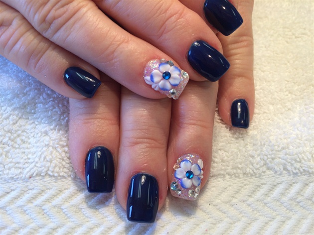 Nails design 3d flower nail art gallery nails design 3d flower prinsesfo Images