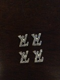 LV Logo Nail Art