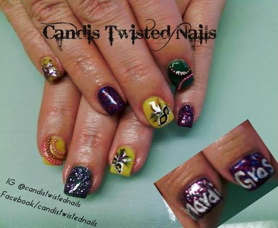 Mardi Gras 2014 Nail Art Gallery