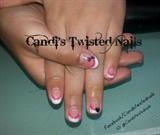 Pink and white Mani